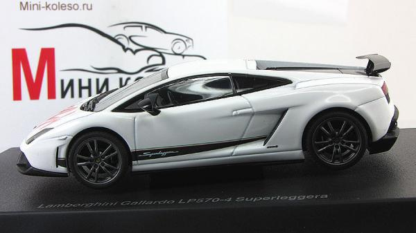 Lamborghini Gallardo LP570-4 Superleggera - Bianco Monocerus (Autoart) [2010г., Белый, 1:43]