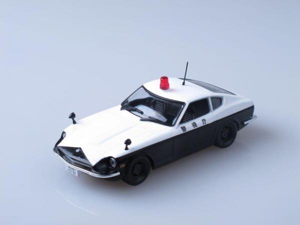 Nissan Fairlady 240Z, Полиция Японии (DeAgostini (Полицейские машины мира)) [1972г., Черный и белый, 1:43]