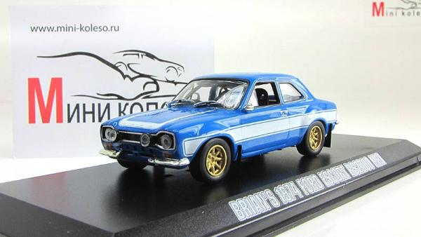 "Ford Escort RS2000 Mk1 из кинофильма ""Форсаж 6"" (Greenlight) [1974г., Голубой металлик с белым, 1:43]"