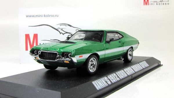 "Ford Gran Torino из кинофильма ""Форсаж 4"" (Greenlight) [1972г., Зеленый металлик, 1:43]"
