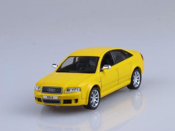 Audi RS 6 (DeAgostini (Суперкары мира)) [2002г., Желтый, 1:43]