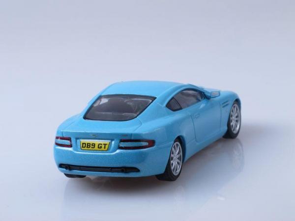 Aston Martin DB9 Vantage (DeAgostini (Суперкары мира)) [2004г., Голубой металлик, 1:43]