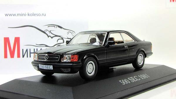 Mercedes Benz 500 SEC (Altaya) [1981г., Черный, 1:43]