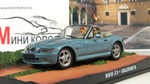 BMW Z3 GoldenEye 1995 Light Blue (Atlas/IXO) [1995г., Голубой, 1:43]