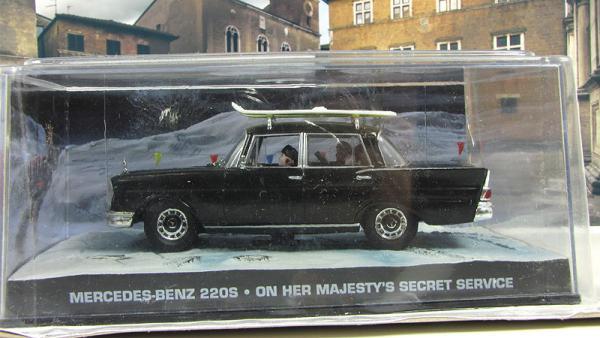 MERCEDES-BENZ 220 S W111 On her majestys secret service 1960 Black (Atlas/IXO) [1969г., Черный, 1:43]