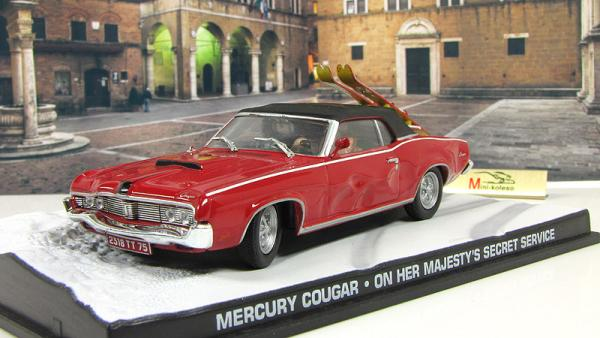 Mercury Cougar On Her Majestys Secret Service 1969 Red (Atlas/IXO) [1969г., Красный, 1:43]