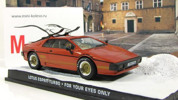 LOTUS ESPRIT Turbo For Your Eyes Only 1981 (Atlas/IXO) [1981г., Оранжевый, 1:43]