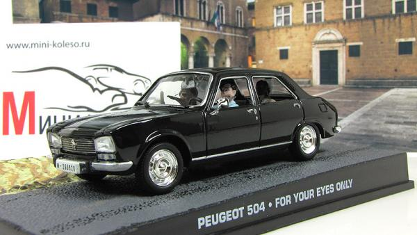 PEUGEOT 504 For Your Eyes Only 1981 Black (Atlas/IXO) [1981г., Черный, 1:43]