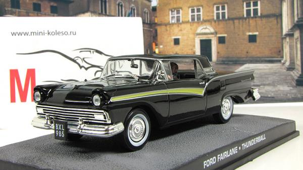 FORD Fairlane Skyliner Thunderball 1965 Black (Atlas/IXO) [1965г., Черный, 1:43]