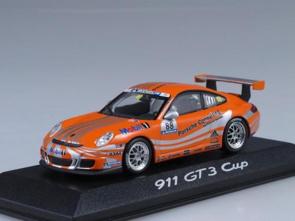 Porsche 911 GT3 Cup (Minichamps) [2006г., Оранжевый, 1:43]