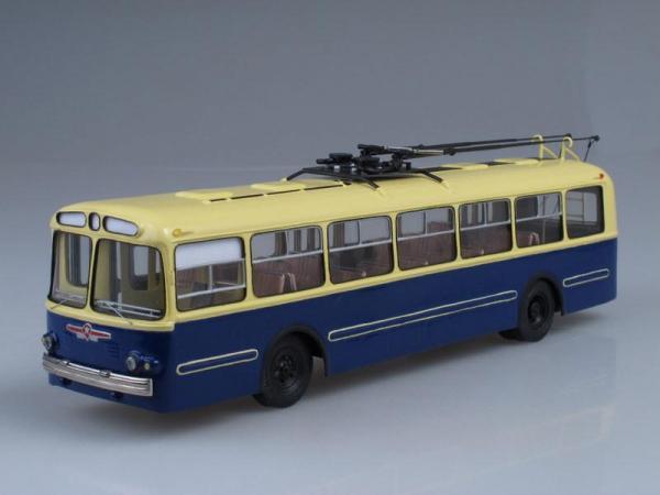 ЗИУ-5Е трёхдверный (Vector-Models) [1967г., Бежевый с синим, 1:43]