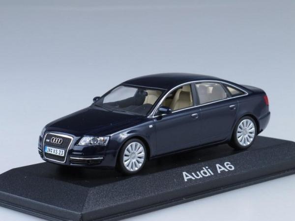 Audi A6 (Minichamps) [2004г., Темно-синий металлик, 1:43]