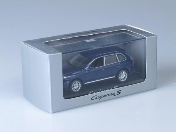 Porsche Cayenne S (Minichamps) [2002г., Синий металлик, 1:43]