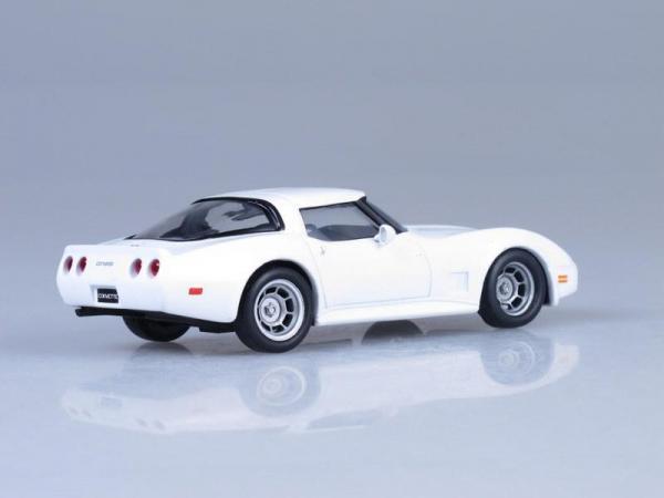 Chevrolet Corvette Stingray (DeAgostini (Суперкары мира)) [1973г., Белый, 1:43]