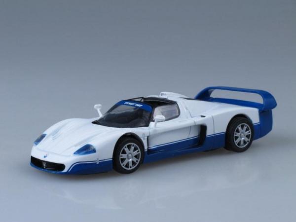 Maserati MC12 (DeAgostini (Суперкары мира)) [2004г., Белый с синим, 1:43]