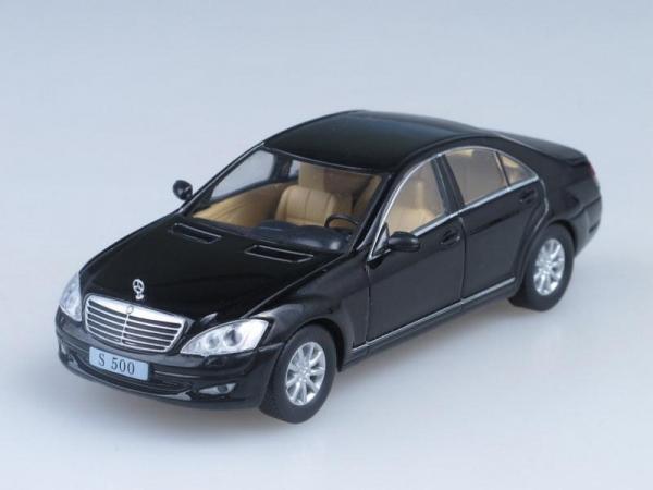Mercedes-Benz S-Klasse W221 (DeAgostini (Суперкары мира)) [2005г., Черный, 1:43]