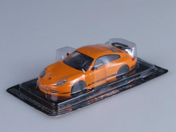Porsche 911 GT3 (DeAgostini (Суперкары мира)) [1999г., Оранжевый, 1:43]