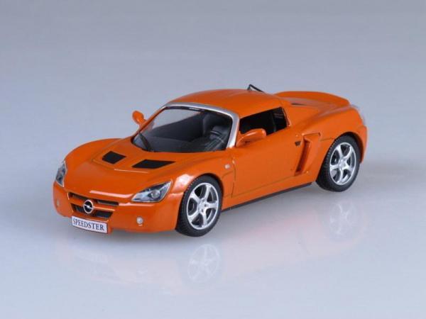 Opel Speedster (DeAgostini (Суперкары мира)) [2000г., Оранжевый, 1:43]