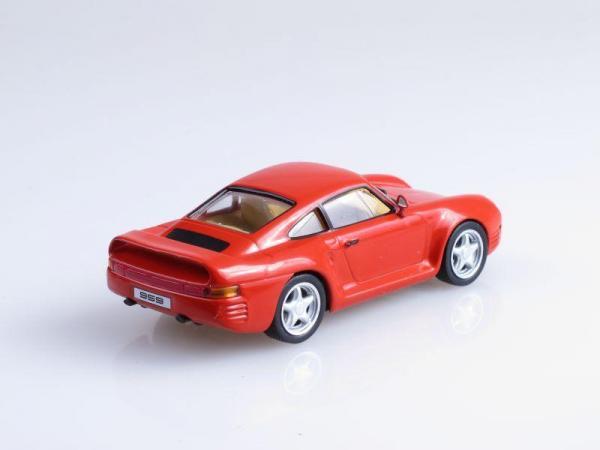 Porsche 959 (DeAgostini (Суперкары мира)) [1985г., Красный, 1:43]