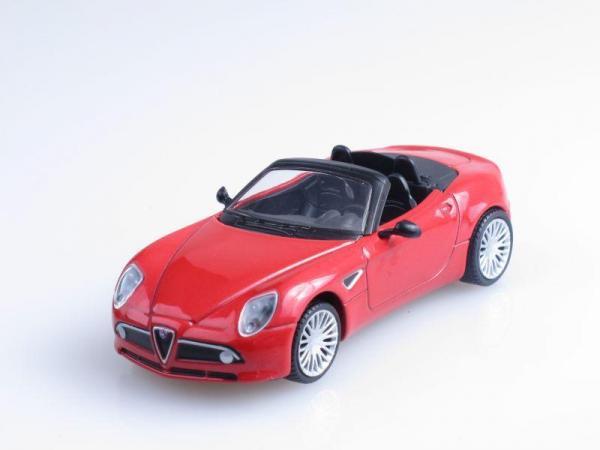 Alfa Romeo 8C Spider (DeAgostini (Суперкары мира)) [2007г., Красный, 1:43]