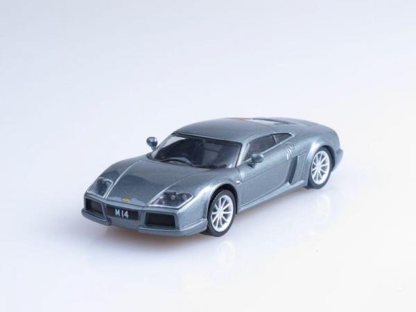 Noble M14 (DeAgostini (Суперкары мира)) [2004г., Серый металлик, 1:43]