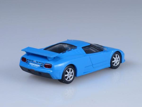 Bugatti EB110 (DeAgostini (Суперкары мира)) [1991г., Голубой, 1:43]