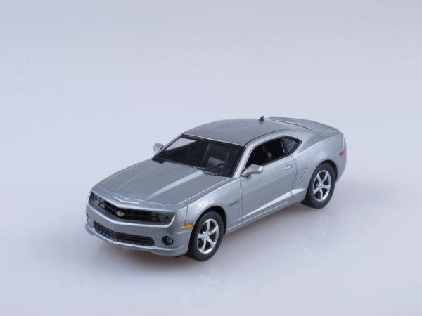 Chevrolet Camaro SS (DeAgostini (Суперкары мира)) [2009г., Серебристый металлик, 1:43]