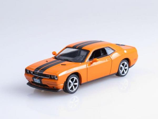 Dodge Challenger SRT-8 (DeAgostini (Суперкары мира)) [2005г., Оранжевый с черными полосами, 1:43]
