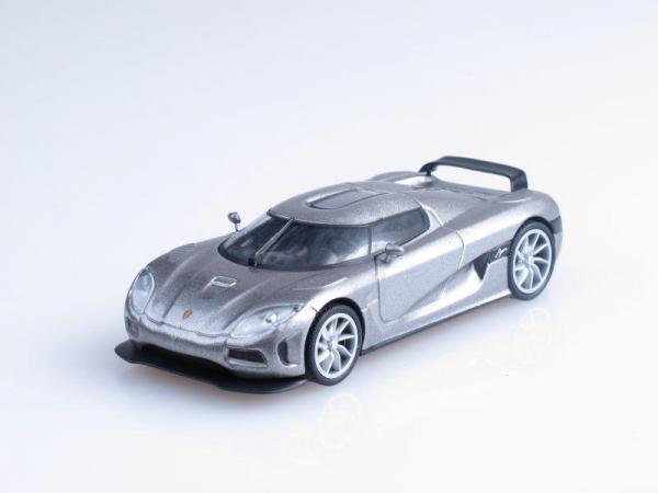 Koenigsegg Agera (DeAgostini (Суперкары мира)) [2010г., Серый металлик, 1:43]