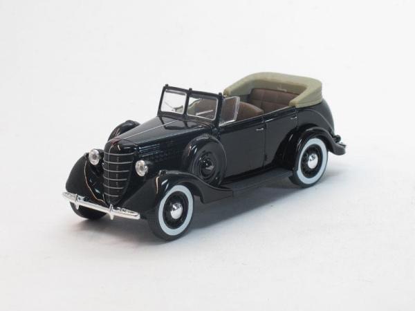 ГАЗ-11-40 открытый (Наш Автопром) [1940г., Черный, 1:43]