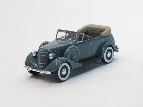 ГАЗ-11-40 открытый (Наш Автопром) [1940г., Серый, 1:43]