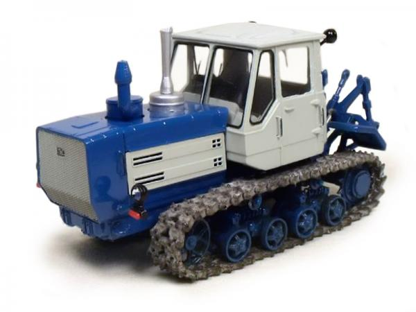 Гусеничный трактор Т-150 (Миниград) [1973г., Синий и белый, 1:43]