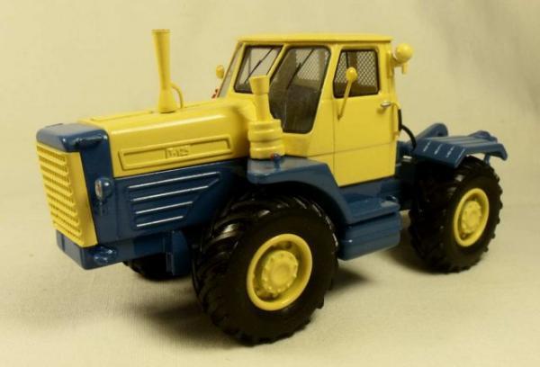 Сельскохозяйственный трактор Т-125 с плугом ПН-5-35 (Миниград) [1962г., Желтый и синий, 1:43]