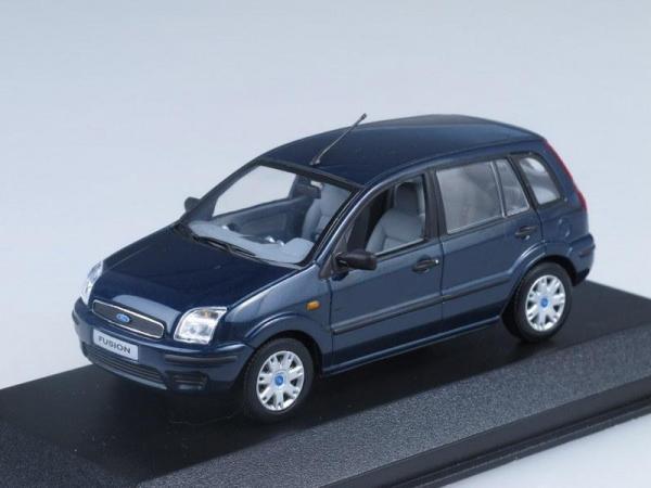 Ford Fusion (Minichamps) [2002г., Темно-синий, 1:43]