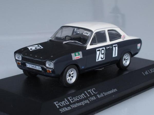 Ford Escort I TC No.79, Nurburgring Stommelen (Minichamps) [1968г., Черный и белый, 1:43]