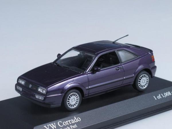 Volkswagen Corrado G60 (Minichamps) [1990г., Пурпурный, 1:43]
