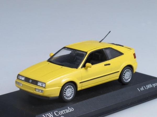 Volkswagen Corrado G60 (Minichamps) [1990г., Желтый, 1:43]
