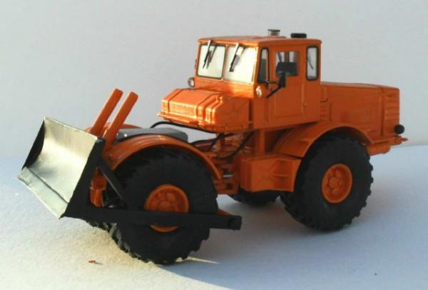 К-700 бульдозер Д-661 (Миниград) [1962г., Оранжевый, 1:43]