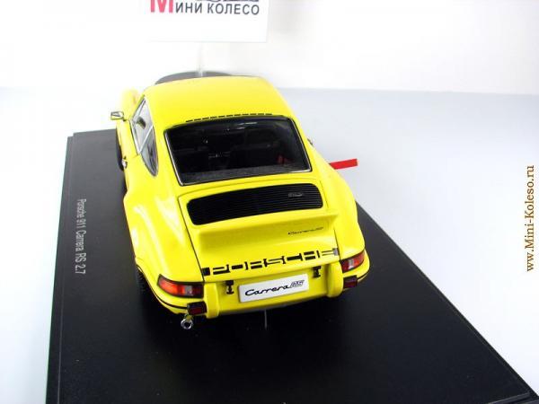 PORSCHE 911 CARRERA RS 2.7 (Autoart) [1973г., Желтый, 1:18]
