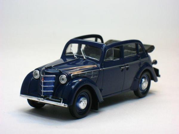 Москвич-400-420А (DeAgostini (Автолегенды СССР)) [1949г., Синий, 1:43]