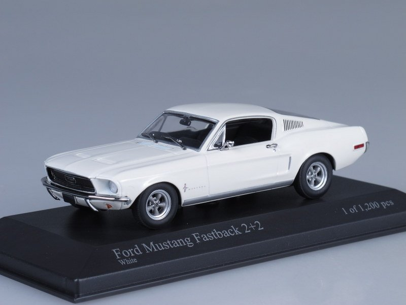 Ford Mustang Fastback 2+2 (Minichamps) [1968г., Белый, 1:43]