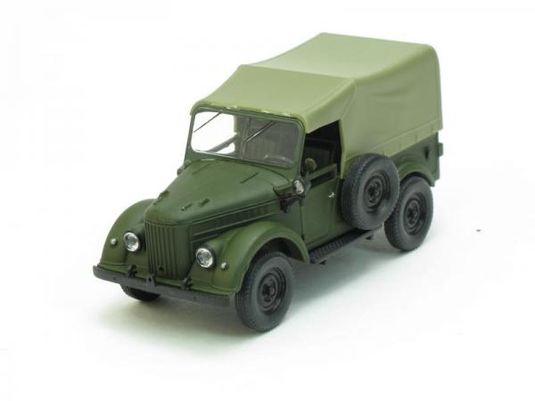 ГАЗ-69 с тентом (Наш Автопром) [1952г., Матовый зеленый, 1:43]
