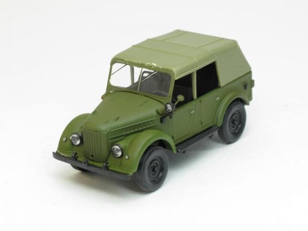 ГАЗ-69А с тентом (Наш Автопром) [1952г., Хаки, 1:43]