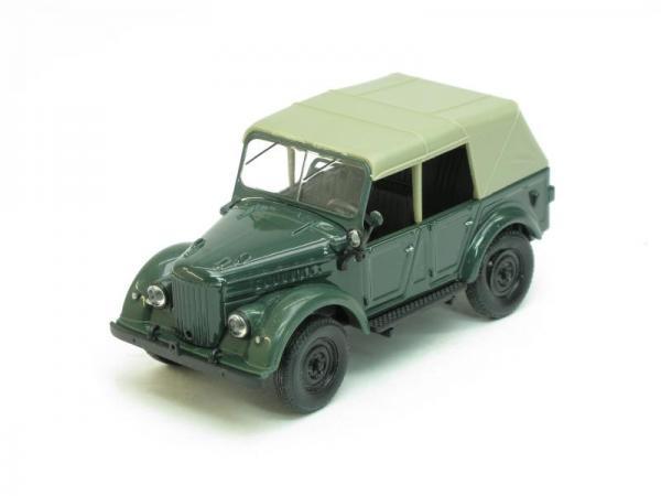 ГАЗ-69А с тентом (Наш Автопром) [1952г., Темно-зеленый, 1:43]