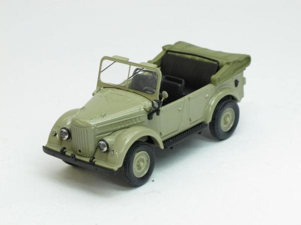 ГАЗ-69А открытый (Наш Автопром) [1952г., Оливковый, 1:43]