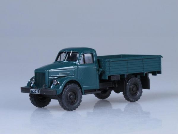ГАЗ-63 (Наш Автопром) [1947г., Темно-зеленый, 1:43]