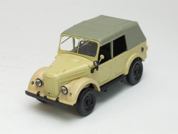 ГАЗ-69А с тентом (Наш Автопром) [1952г., Песочный, 1:43]