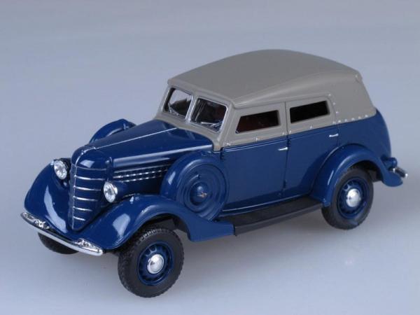 ГАЗ-61 (фаэтон) c тентом (Наш Автопром) [1941г., Синий, 1:43]