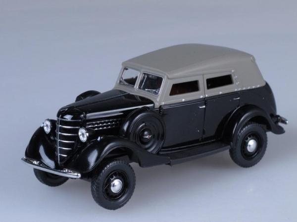 ГАЗ-61 (фаэтон) c тентом (Наш Автопром) [1941г., Черный, 1:43]