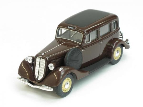 ГАЗ-М1 такси (Наш Автопром) [1936г., Бордовый, 1:43]